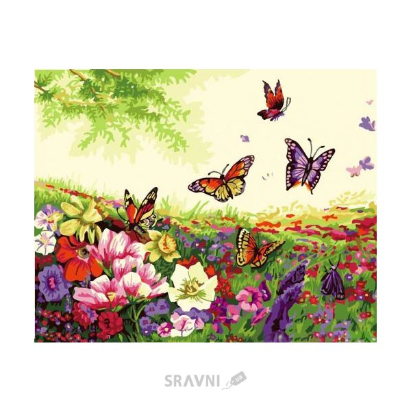 Фото Идейка Цветы и бабочки, серия Цветы (KH250)