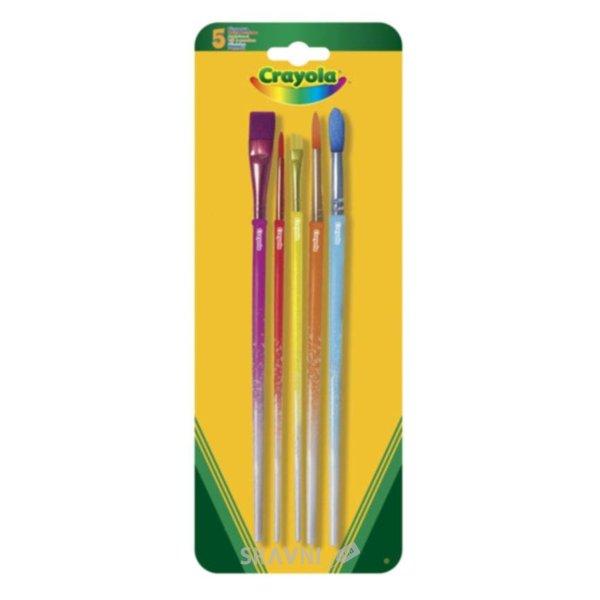 Фото Crayola 5 кисточек для рисования красками (3007)