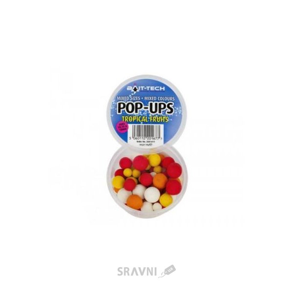 Фото Bait-Tech Бойлы Pop-Ups Tropical Fruits mixed 110g