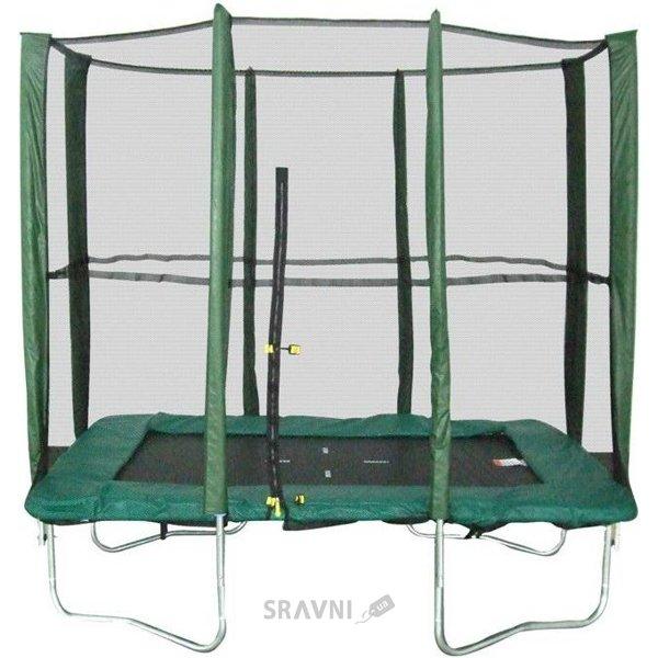 Фото KIDIGO Батут прямоугольный 215х150 см с защитной сеткой