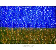 Фото Delux Curtain 288 LED 1.5x1m синий-желтый/черный IP44 (10107981)