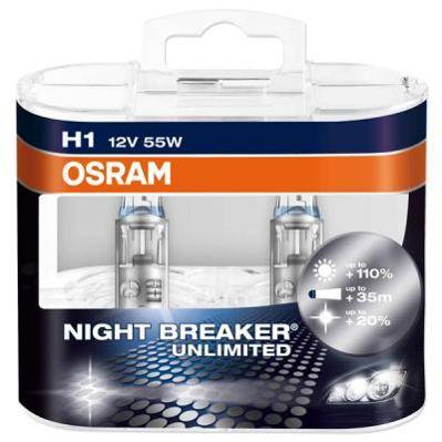 Фото Osram Автолампа Osram Night Breaker Unlimited H1 5