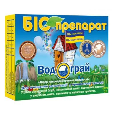 Фото Биопрепарат Водограй 20 г Водограй - выгребная/сли